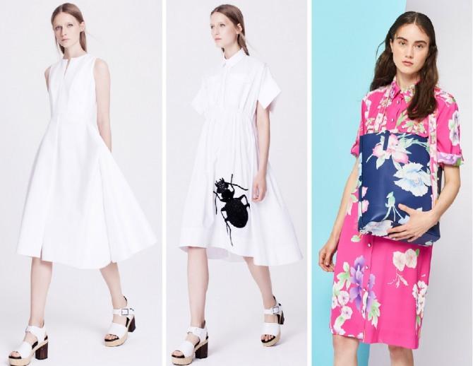 белое платье цветное с цветами