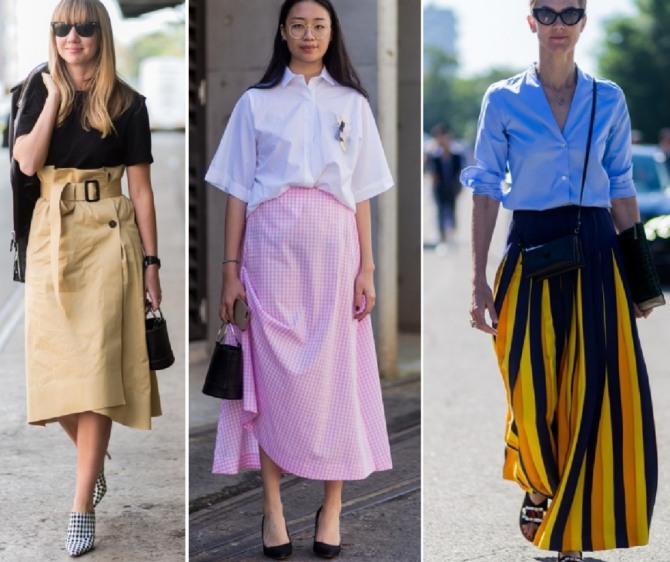 летняя деловая одежда - стильные образы с юбкой
