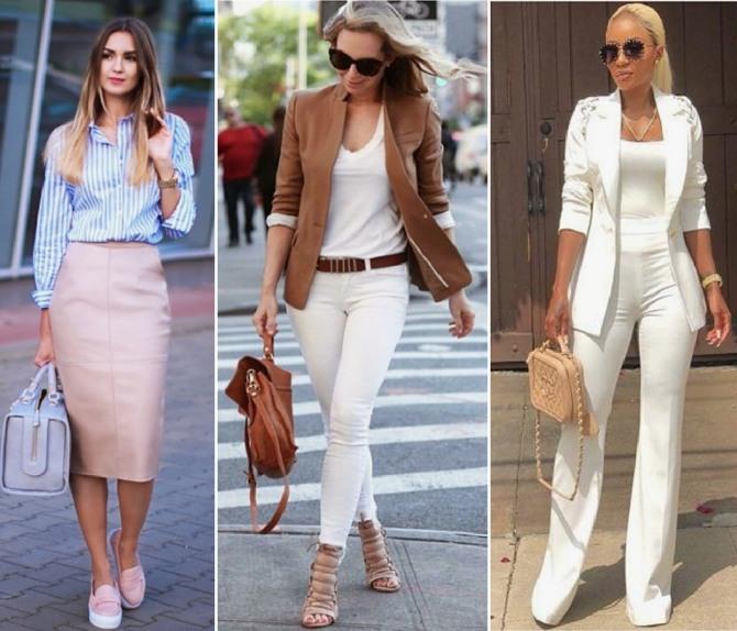в чем в жару ходить на работу в офис - юбка, блузка, штаны