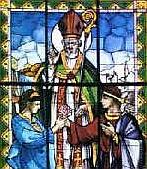 Витражное окно с изображением епископа Валентина