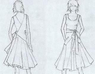 Нарисованные фасоны платьев
