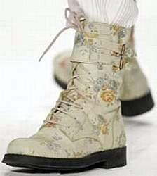 Ботинки из ткани с цветочным рисунком