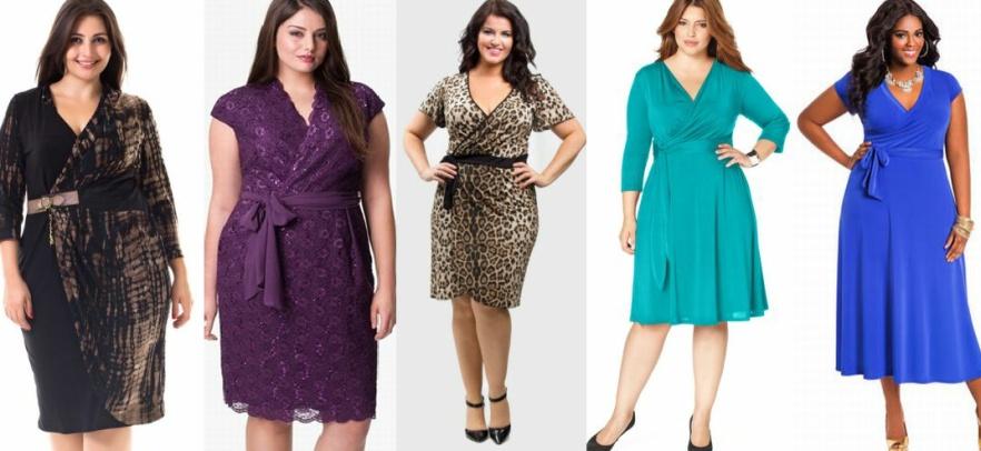 Платье-халат для полных