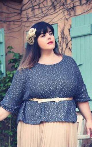 Модные летние блузки для полных [фото]