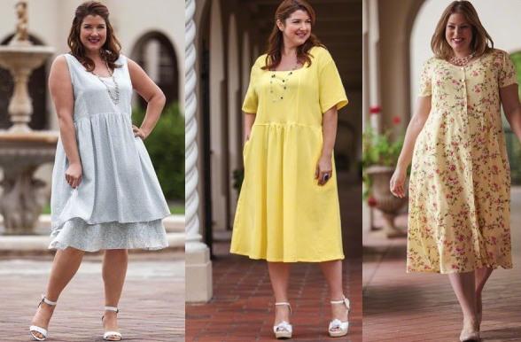 Летняя одежда больших размеров. Модные летние фасоны 3013 для полных девушек и женщин