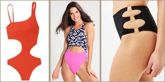 вырезы на животе и бедрах - модный тренд лето 2017 - купальники
