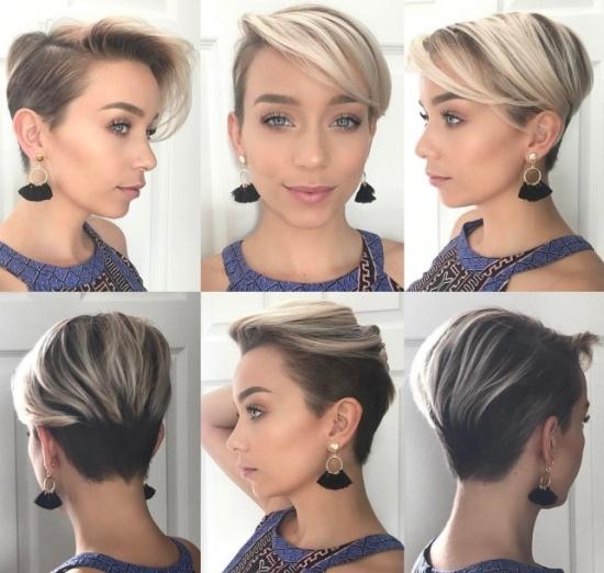 Женские прически для средних волос с челкой 44