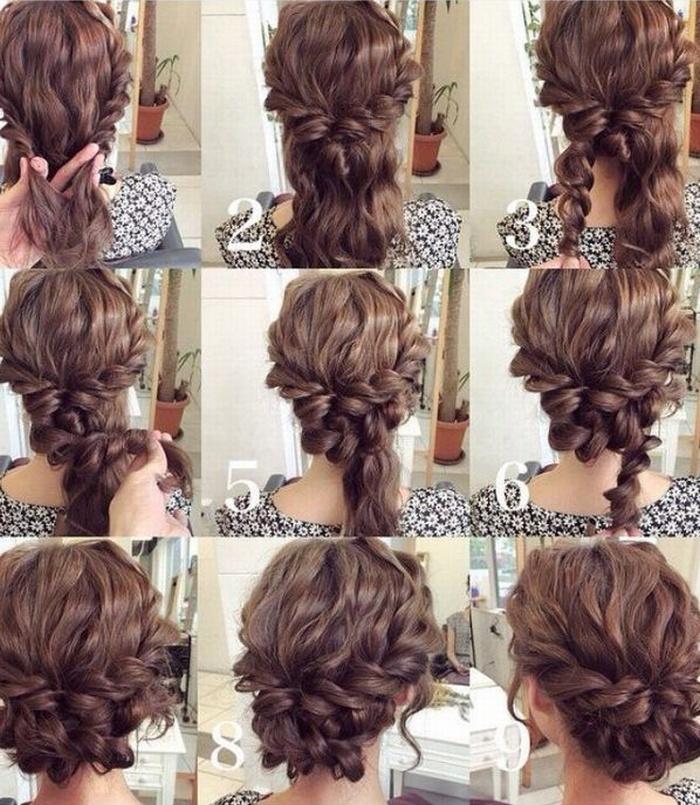 Прическа на среднюю длину волос поэтапно