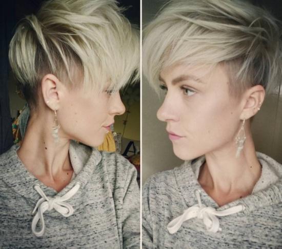 Ультрамодная короткая стрижка блонд лето 2017