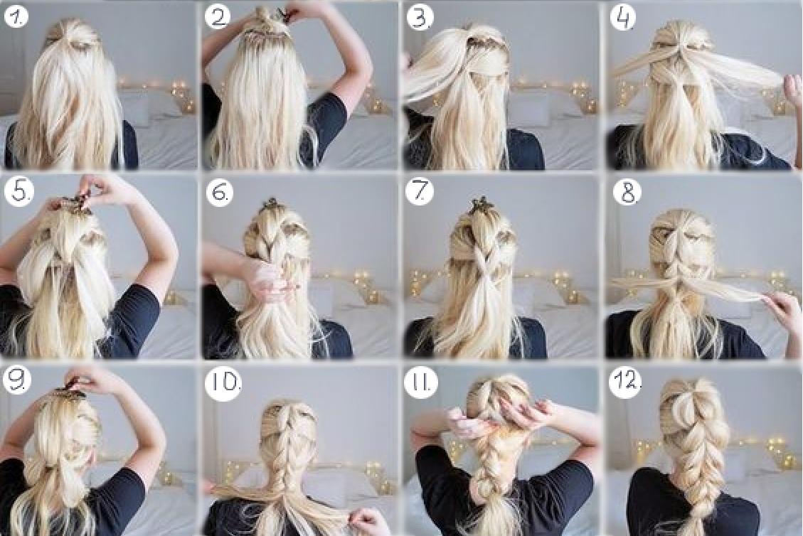 причёски на длинные волосы с живыми цветами фото