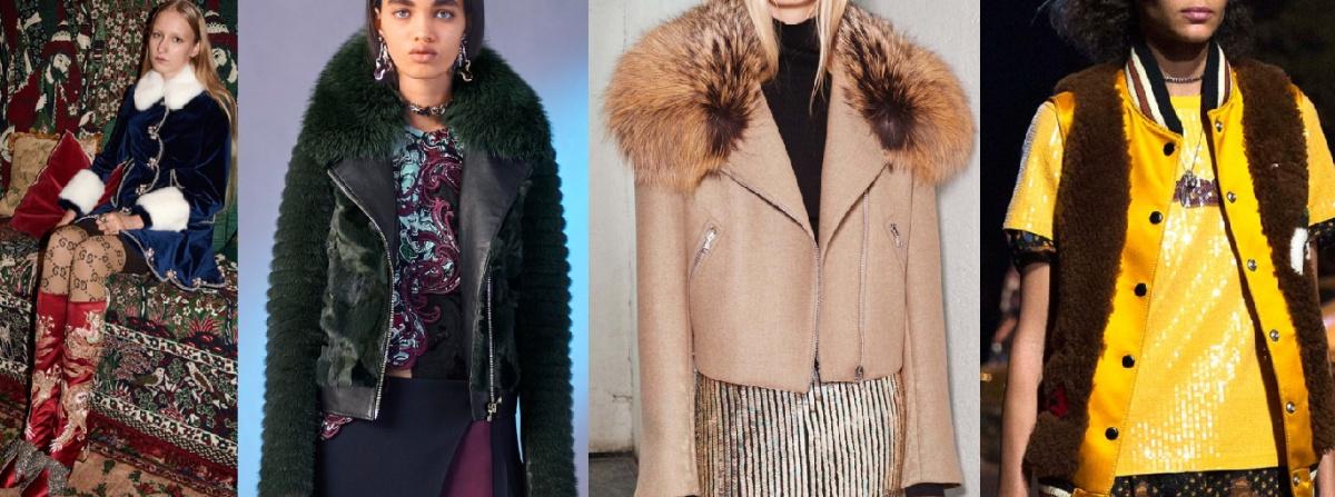 Как выглядят модные модели курток с меховой отделкой