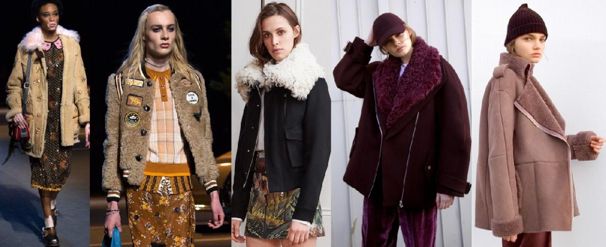 Модные теплые куртки осень-зима 2017 - овчина
