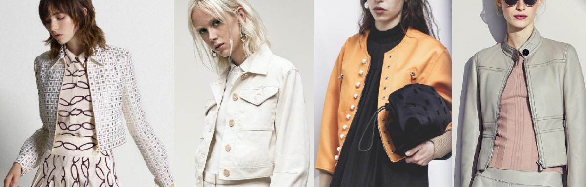 Модные дизайнерские куртки спенсер на осень 2017 года