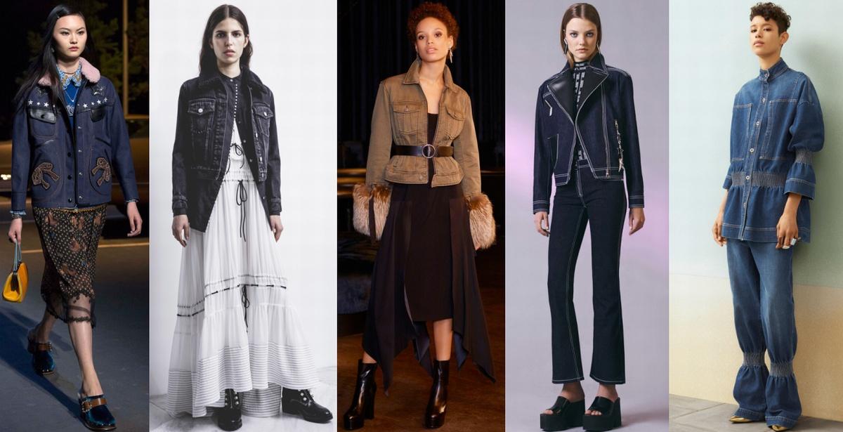 Модный деним осени 2017 - женские куртки из джинсовой ткани
