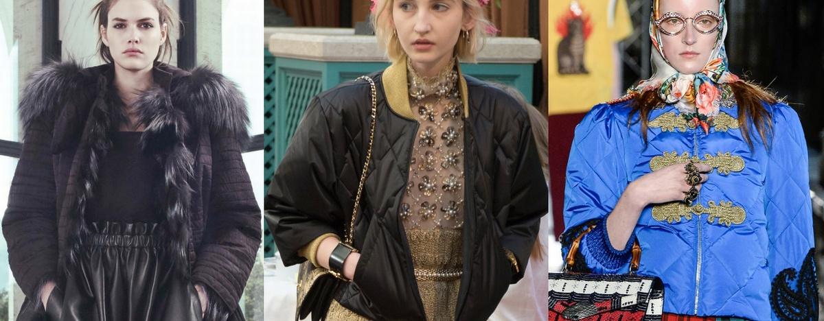 Осенняя мода 2017: стеганые брендовые куртки 2017
