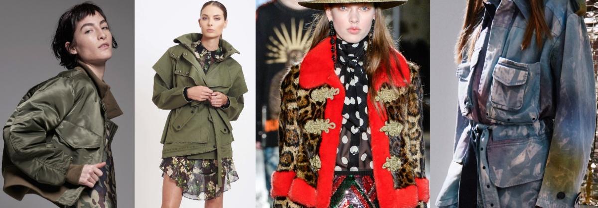 женская куртка в стиле милитари - модный тренд 2017 года