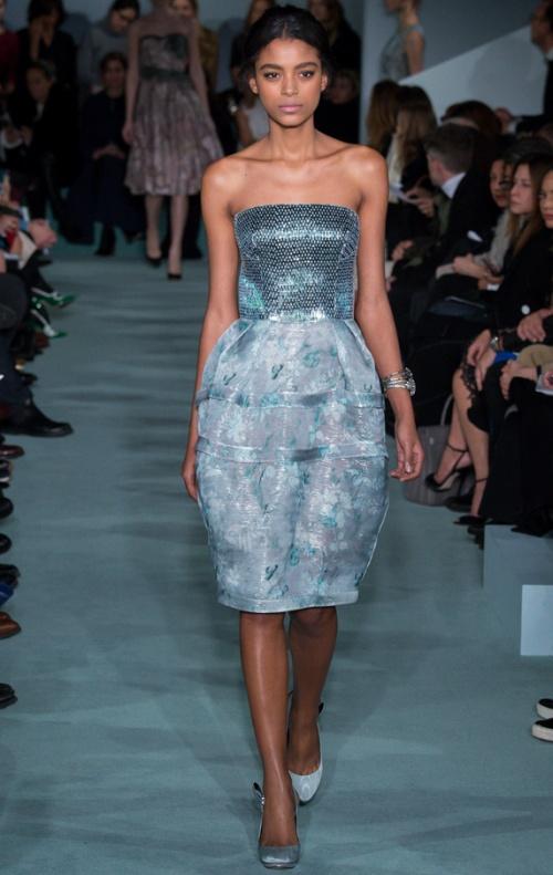 Платье корсетное голубое