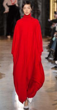 Длинное красное платье-свитер