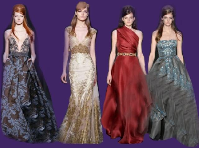 Фасоны модных длинных платьев фото