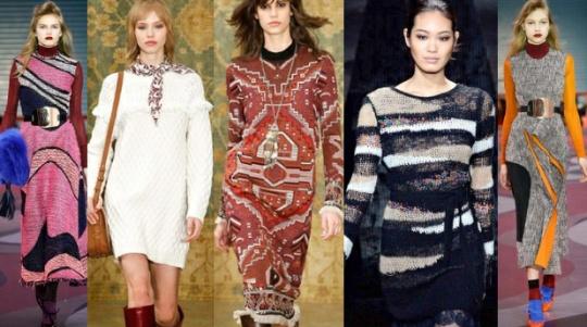 Платье-свитер осень-зима 2015-2016