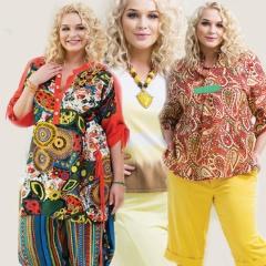 Летние костюмы для полных девушек и женщин - фото модных фасонов
