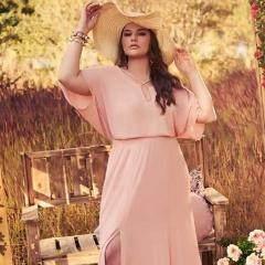 Фасоны нарядных летних платьев 2018 для крупных женщин - 31 фото