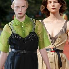 Модные деловые сарафаны с дизайнерских показов Весна-Лето 2018 - фото