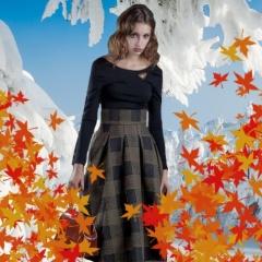 Фото модных теплых длинных юбок на сезон Осень-Зима 2017-2018