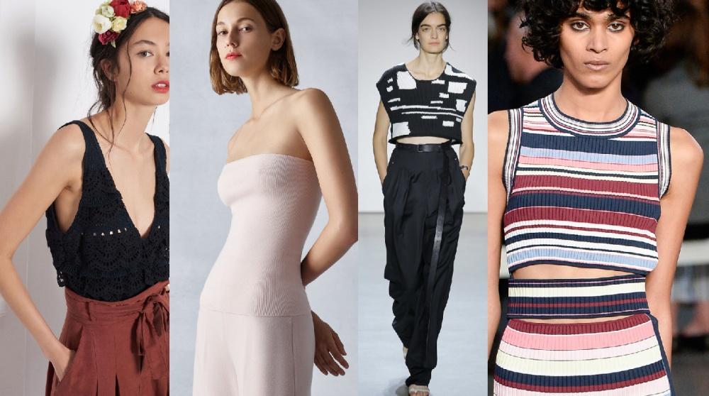 модные вязаные топы 2018