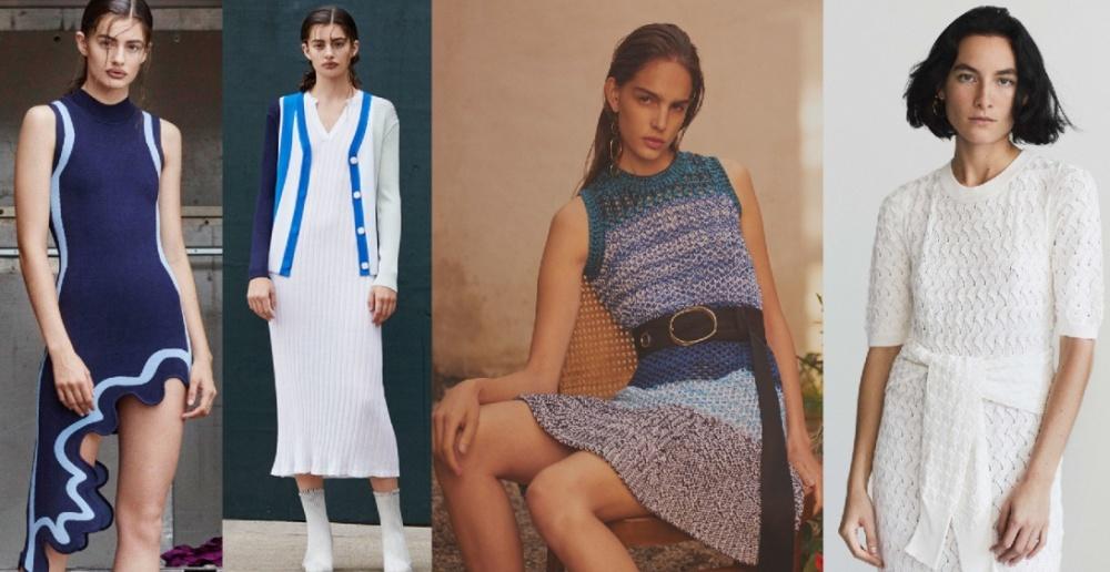 Трикотажные модели платьев 2018 - тренды