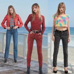Мода для девушек. Образец весенне-летнего молодежного стиля 2018 - коллекция джинсовой одежды от Re/Done