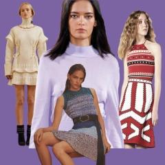 Модный трикотаж 2018 года: трикотажные платья, костюмы, юбки, брюки, топы, жакеты, свитшоты – тенденции и фото