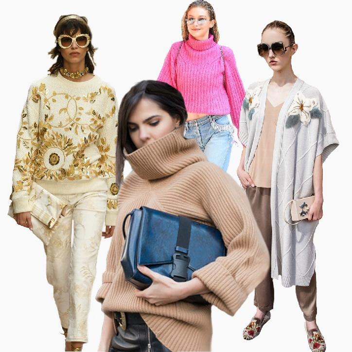Модный женский трикотаж 2018 года: свитеры, водолазки, кардиганы, пуловеры,