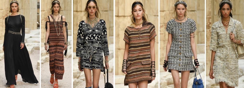 осень 2018 модные платья от Шанель