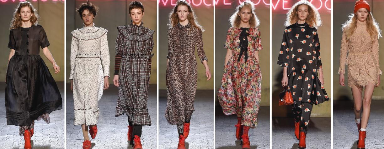 Дизайнерские повседневные осенние платья от 2018 от Ganni