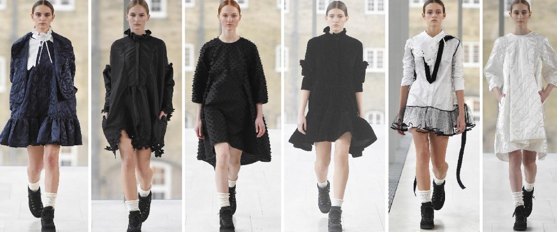молодежная мода - платья 2018 для зимы от Cecilie Bahnsen