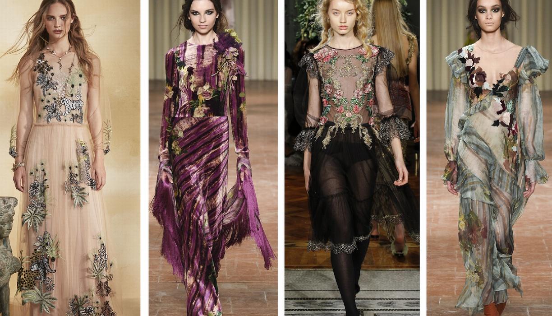 нарядные платья на вечер от Alberta Ferretti