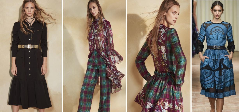 Модные платья на осень 2018 от Alberta Ferretti