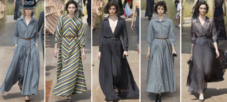 платья макси от Christian Dior - мода осени 2018