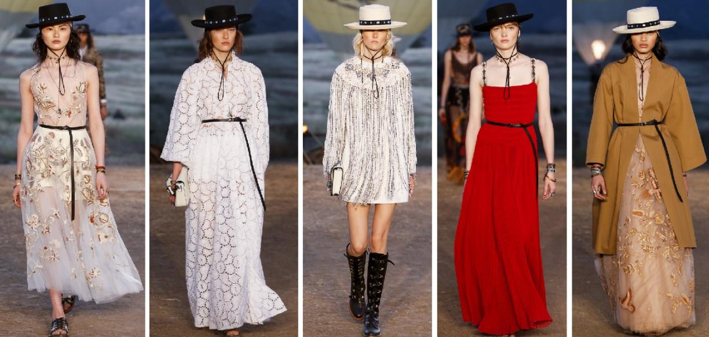 Нарядные праздничные платья на весну 2018 от Christian Dior