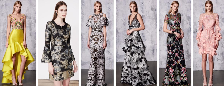 Вечерние модные платья 2018 от Marchesa Notte