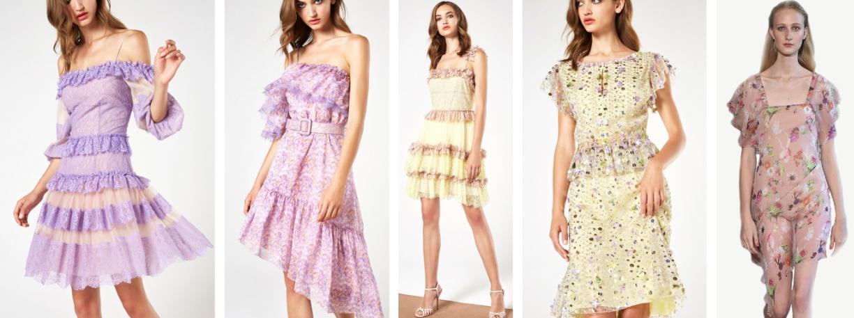 летняя мода 2018 вечерние платья от Blumarine