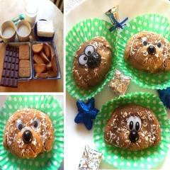 Пирожные без выпечки в виде собачек - пошаговый рецепт и фото