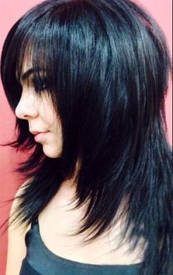 каскад на длинных волосах