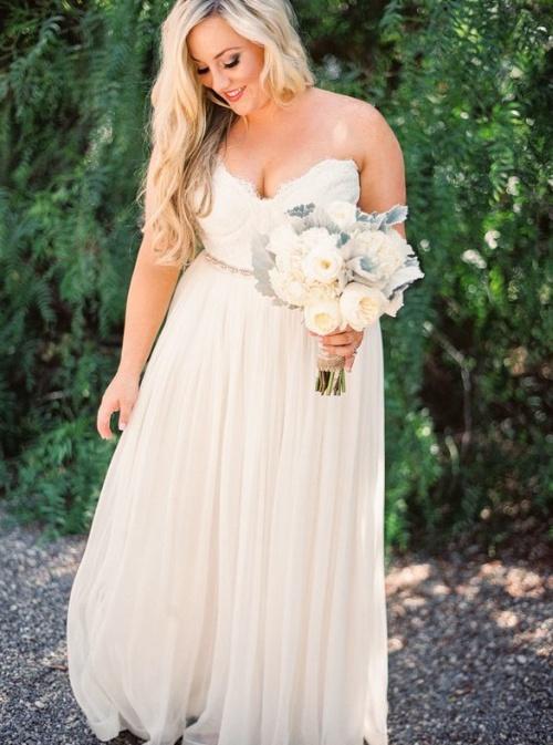 платье невесты корсетное на прозрачных лямках