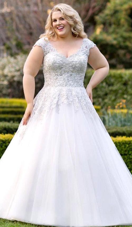 свадебное платье для девушки с очень полными руками