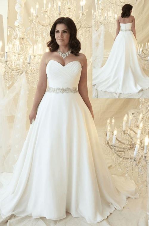 свадебное красивое платье с декоративным поясом