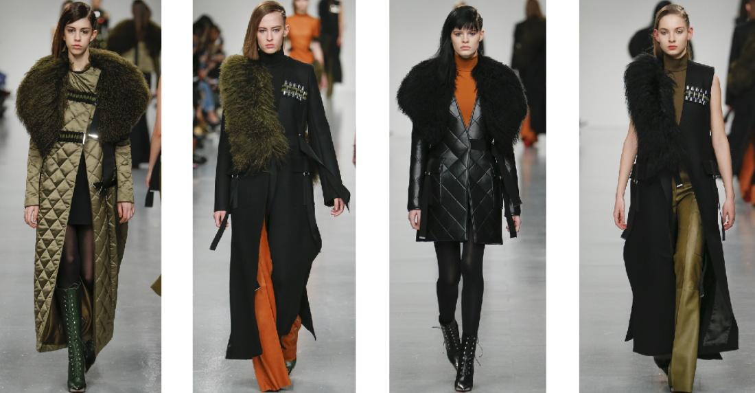 Фасоны зимних пальто с меховыми аксессуарами от David Koma