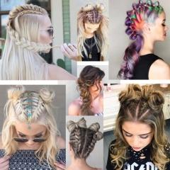 Летние прически 2017 для длинных волос | Фото новинок: колоски, булочки, косички, хвостики, цветные пряди