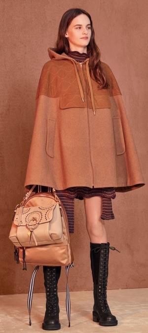 Пальто-кейп от See by Chloе - мода для полных